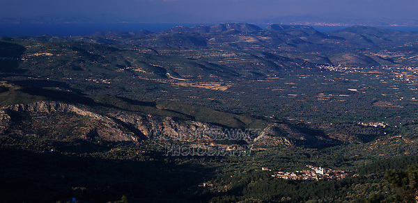 Village of Pagondas, Samos, Greek Islands, Eastern Aegean Islands, Greece, May 1998