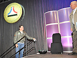 Saturday afternoon ... last minute preparations and  rehearsal for NAHF enshrinement 2012 at the Dayton Convention Center.