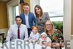 Baby Daniel Prunty with his parents Sandra O'Donoghue & Kevin Prunty and brother Owen and god parents Pardaigh O'Donoghue  & Caroline Reen who was christened in Lyreacropnae Church by Fr. Jack O'Donnell on Saturday last and afterwards at the Listowel Arms Hotel.