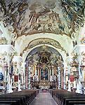 Germany, Upper Bavaria, Burghausen: minster Raitenhaslach | Deutschland, Bayern, Oberbayern, Burghausen: Klosterkirche Raitenhaslach