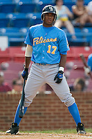 Myrtle Beach shortstop Elvis Andrus (17) reacts after taking a called third strike versus Winston-Salem at Ernie Shore Field in Winston-Salem, NC, Monday, May 28, 2007.