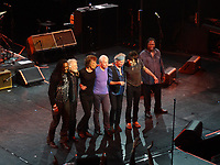 Rolling Stones <br /> left to right :<br /> chuck leavell-mick jagger-charlie watts-keith richards-ronnie wood- daryll Jones<br /> théatre Mogador -PARIS<br /> 29 Oct 2012<br /> private show<br /> © GUINO patrice / DALLE<br /> -------------<br /> exclusive<br /> please no small use--nice rates only<br /> <br /> the encore  from crowd  after  the 2  authorized songs
