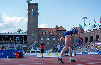 4th July 2021; Stockholm Olympic Stadium, Stockholm, Sweden; Diamond League Grand Prix Athletics, Bauhaus Gala; Keely Hodgkinson before her 800m run which placed her third on the all time British record list with a time of 1:57:51