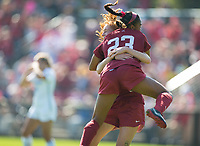 STANFORD, CA - October 21, 2018: Beattie Goad, Kiki Pickett at Laird Q. Cagan Stadium. No. 1 Stanford Cardinal defeated No. 15 Colorado Buffaloes 7-0 on Senior Day.