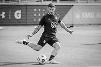 BRADENTON, FL - JANUARY 21: Paul Arriola passes the ball during a training session at IMG Academy on January 21, 2021 in Bradenton, Florida.