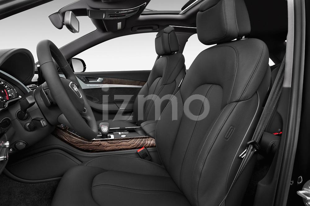 Front seat view of 2015 Audi A8 3.0T SWB quattro tiptronic 4 Door Sedan front seat car photos