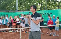 August 9, 2014, Netherlands, Rotterdam, TV Victoria, Tennis, National Junior Championships, NJK,  Prize giving, Richard Krajicek<br /> Photo: Tennisimages/Henk Koster