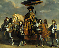 Le Brun 1619-1690: The Chancellor Seguier. The Chancellor was a courtier to Louis XIV and of the new nobility.  Louvre.  Reference only.