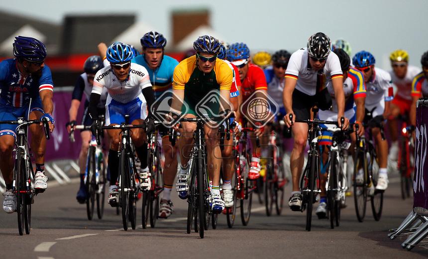 David Nicholas (AUS), bronze. Men's Individual C 1-3 Road Race.<br /> Cycling Road, Brands Hatch (Wednesday 5th Sept)<br /> Paralympics - Summer / London 2012<br /> London England 29 Aug - 9 Sept <br /> © Sport the library/Joseph Johnson