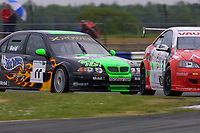 Round 4 of the 2002 British Touring Car Championship. #11 Anthony Reid (GBR). MG Sport & Racing. MG ZS. #3 James Thompson (GBR). Vauxhall Motorsport. Vauxhall Astra Coupé.