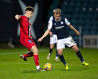 19th December 2020; Dens Park, Dundee, Scotland; Scottish Championship Football, Dundee FC versus Dunfermline; Euan Murray of Dunfermline Athletic and Paul McGowan of Dundee