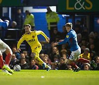 Fleetwood Town's Barrie McKay (left) under pressure from Portsmouth's Ross McCrorie (right) <br /> <br /> Photographer David Horton/CameraSport<br /> <br /> The EFL Sky Bet League One - Portsmouth v Fleetwood Town - Tuesday 10th March 2020 - Fratton Park - Portsmouth<br /> <br /> World Copyright © 2020 CameraSport. All rights reserved. 43 Linden Ave. Countesthorpe. Leicester. England. LE8 5PG - Tel: +44 (0) 116 277 4147 - admin@camerasport.com - www.camerasport.com
