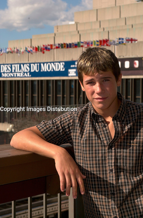 August 31 2003, Montreal, Quebec, CANADA<br /> <br /> Juan Jose Ballesta, actor in 4th FLOOR<br /> presented in the Official Competition of 2003 the Montreal World Film Festival, directed by Antonio Mercero, pose for an exclusive photo, august 31 2003 in Montreal, CANADA