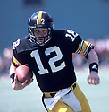 Pittsburgh Steelers, Terry Bradshaw(12) in action during a game against the Kansas City Chiefs on September 6, 1981 at Three Rivers Stadium In Pittsburgh, Pennsylvania. The Chiefs beat the Steelers 37-33.
