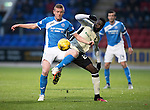 St Johnstone v Inverness Caley Thistle…03.12.16   McDiarmid Park..     SPFL<br />Brian Easton and Losana Doumbouya<br />Picture by Graeme Hart.<br />Copyright Perthshire Picture Agency<br />Tel: 01738 623350  Mobile: 07990 594431