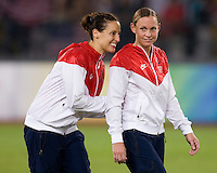 Kate Markgraf, Christie Rampone. The USWNT defeated Brazil, 1-0, to win the gold medal during the 2008 Beijing Olympics at Workers' Stadium in Beijing, China.