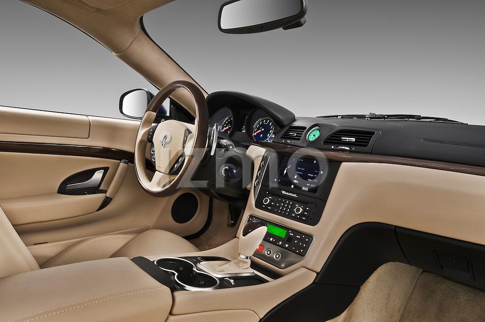 Passenger side dashboard view of a 2010 Maserati Granturismo S Automatic Coupe