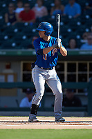 Brandon Lowe (11) of the Durham Bulls at bat against the Charlotte Knights at BB&T BallPark on July 4, 2018 in Charlotte, North Carolina. The Knights defeated the Bulls 4-2.  (Brian Westerholt/Four Seam Images)