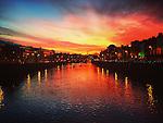Sunset on The River Liffey, Dublin