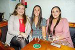 Enjoying the evening in The Dunloe Lodge in Killarney on Saturday, l to r: Corina Cronin (Ballydesmond), Mairead and Marion Brosnan (Ballydesmond).