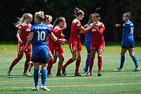 Seattle, WA - Saturday May 13, 2017: Washington Spirit during a regular season National Women's Soccer League (NWSL) match between the Seattle Reign FC and the Washington Spirit at Memorial Stadium.