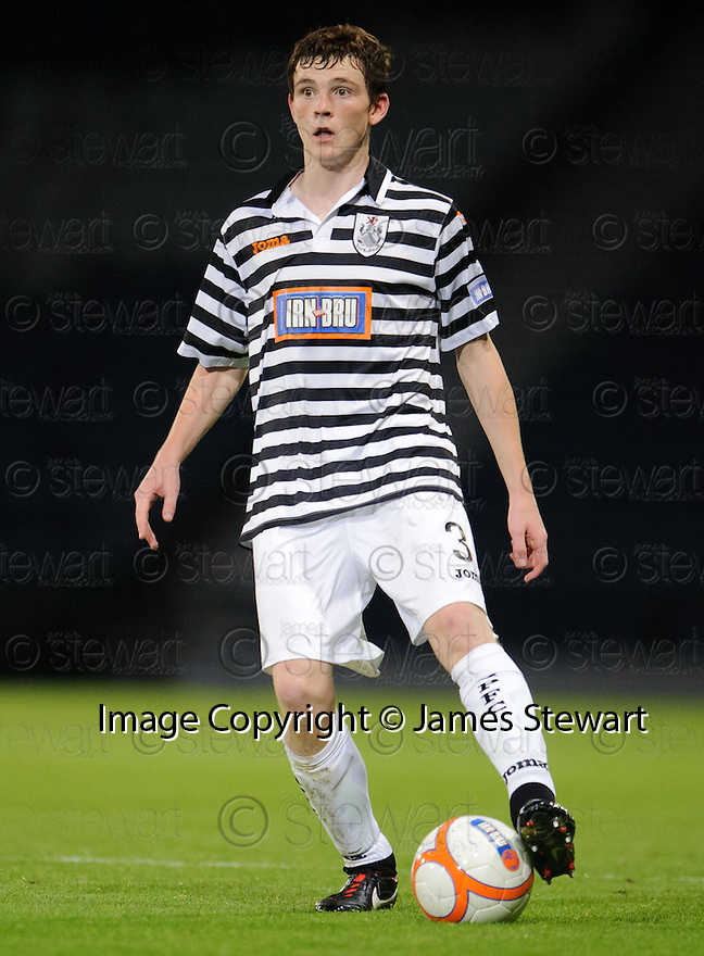 Andy Robertson : Queen's Park FC ........29/08/2012   Copyright  Pic : James Stewart.jsp058_qp_v_dundee   .James Stewart Photography 19 Carronlea Drive, Falkirk. FK2 8DN      Vat Reg No. 607 6932 25.Telephone      : +44 (0)1324 570291 .Mobile              : +44 (0)7721 416997.E-mail  :  jim@jspa.co.uk.If you require further information then contact Jim Stewart on any of the numbers above........