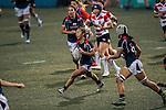 Chong Ka Yan of Hong Kong (c) during the Womens Rugby World Cup 2017 Qualifier match between Hong Kong and Japan on December 17, 2016 in Hong Kong, Hong Kong. Photo by Marcio Rodrigo Machado / Power Sport Images