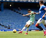 02.05.2021 Rangers v Celtic: Mohamed Elyounoussi hits the bar