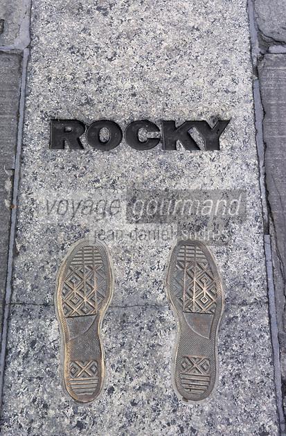 Amérique/Amérique du Nord/USA/Etats-Unis/Vallée du Delaware/Pennsylvanie/Philadelphie : Philadelphia Museum of Art - Les pas de Rocky