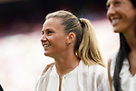 FC Barcelona's Sandra Panos during the tribute to the Best Players in Europe before La Liga match. August 29, 2021. (ALTERPHOTOS/Acero)