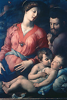 Paintings:  Bronzino--The Saint Family.  Galleria Uffizi, Florence.  Reference only.