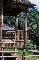 Asie/Malaisie/Bornéo/Sabah/Kota Kinabalu: Musée du Sabah - Longhouse