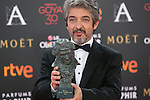 Argentinian Ricardo Darin poses with Best Actor Goya award during 30th Goya Awards ceremony in Madrid, Spain. February 06, 2016. (ALTERPHOTOS/Victor Blanco)