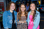 Enjoying the evening in Killarney on Saturday, l to r: Amy Walsh, Aisling Cahill and Eva Brosnan (All Killarney).