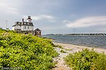 Rose Island Lighthouse in Narragansett Bay, Newport, RI
