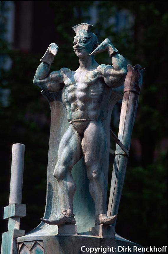 Daenemark, Denkmal auf dem Axeltorv in Kopenhagen