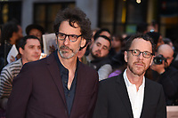 "Joel and Ethan Coen<br /> arriving for the London Film Festival screening of ""The Ballad of Buster Scruggs"" at the Cineworld Leicester Square, London<br /> <br /> ©Ash Knotek  D3438  12/10/2018"