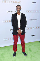 WEST HOLLYWOOD, CA - JUNE 15: Actor Zachary S. Williams arrives at the premiere of OWN's 'Greenleaf' at The Lot on June 15, 2016 in West Hollywood, California.
