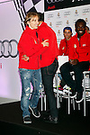 Real Madrid player Luka Modric participates and recives new Audi during the presentation of Real Madrid's new cars made by Audi at the Jarama racetrack on November 8, 2012 in Madrid, Spain.(ALTERPHOTOS/Harry S. Stamper)