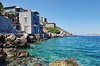 The rocky coast of Kaminia in Hydra, Greece