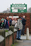 Burscough 3, Gillingham 2, 05/11/2005. Victoria Park, Burscough, FA Cup first round. Fans queueing outside the ground before the match. The team from the Northern Premier League Premier Division defeated their Football League Championship rivals by 3-2 with two goals in the last minute, watched by a crowd of 1927 spectators. Photo by Colin McPherson.