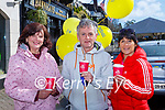 Frances Healy, Eugene O'Sullivan and Mary Coffey Straka enjoying the Daffodil day takeaway coffee morning in the Ross Hotel on Friday