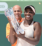 March 31 2018: Sloane Stephens (USA) defeats Jelena Ostapenko (LAT) by 7-6 (5), 6-1, at the Miami Open being played at Crandon Park Tennis Center in Miami, Key Biscayne, Florida. ©Karla Kinne/Tennisclix/CSM
