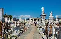 Cienfuegos Cuba old beautiful cemetery called The Queen in 1839 also called General Cemetery with graves and statues