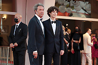 VENICE, ITALY - SEPTEMBER 11: Paolo Sorrentino and Filippo Scotti attend the closing ceremony red carpet during the 78th Venice International Film Festival on September 11, 2021 in Venice, Italy. <br /> CAP/MPI/AF<br /> ©AF/MPI/Capital Pictures