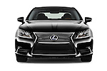 Car photography straight front view of a 2016 Lexus LS President Line  4 Door Sedan Front View