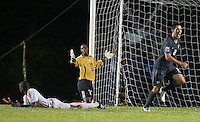 Clint Dempsey celebrates his goal, .USA 1-0 over Cuba, at the Estadio Nacional De Futbol Pedro Marrero Saturday, Sept. 6, 2008, during CONCACAF qualifying for the 2010 World Cup.