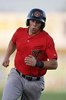 Carter Bell #3 of the Visalia Rawhide runs the bases against the High Desert Mavericks at Stater Bros. Stadium on May 15, 2012 in Adelanto,California. (Larry Goren/Four Seam Images)
