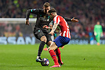 MADRID, SPAIN - FEBRUARY 18: Andrew Robertson of Liverpool and Saul Niguez of Atletico de Madrid in action during the UEFA Champions League football match, round 16, played between Atletico de Madrid and Liverpool FC at Wanda Metropolitano stadium on February 18, 2020 in Madrid, Spain.<br /> (ALTERPHOTOS/David Jar)