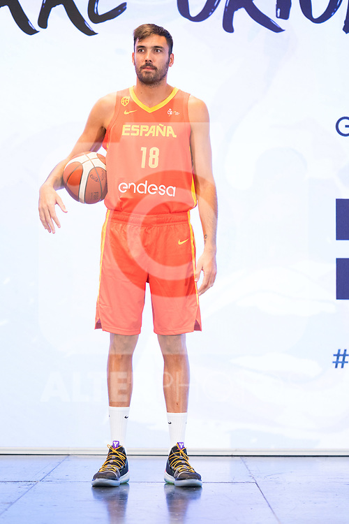 Player Pierre Oriola during the official presentation of Spanish National Team of Basketball.  July 24, 2019. (ALTERPHOTOS/Francis Gonzalez)